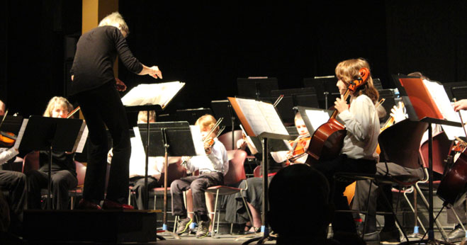 Kaity directing the prima orchestra