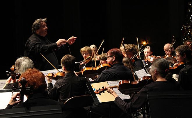 Dino conducting mezza orchestra